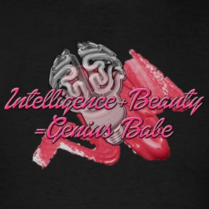 INTELLIGENCE+BEAUTY=Genius Babe Tanks - Men's T-Shirt