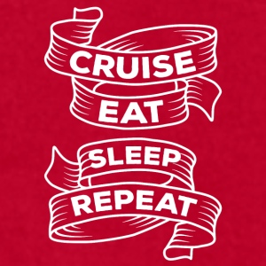 Cruise Eat Sleep Repeat Cruising T-shirt Mugs & Drinkware - Men's T-Shirt by American Apparel