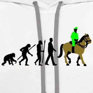 evolution_cop_on_horse_09_201603_3c T-Shirts - Contrast Hoodie