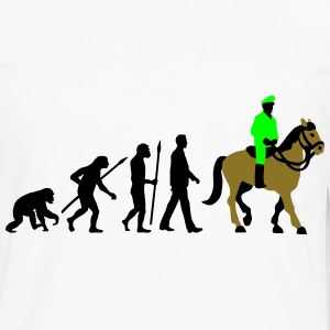 evolution_cop_on_horse_09_201603_3c T-Shirts - Men's Premium Long Sleeve T-Shirt