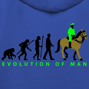 evolution_cop_on_horse_09_201602_3c T-Shirts - Kids' Premium Hoodie
