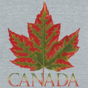 Canada Cup Beautiful Autumn Maple Leaf Souvenir Mu - Unisex Tri-Blend T-Shirt by American Apparel