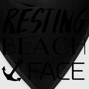 Resting Beach Face T-Shirts - Bandana