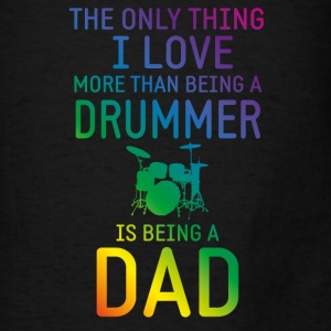Drummer and Dad rainbow Bags & backpacks - Men's T-Shirt