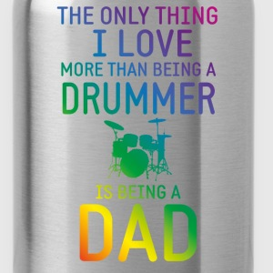 Drummer and Dad rainbow Long Sleeve Shirts - Water Bottle