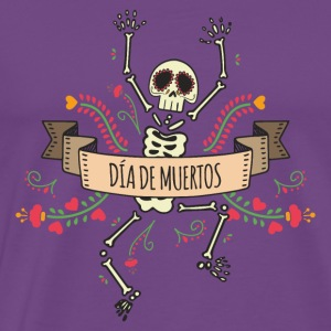 Day of the Dead Skeleton Hoodies - Men's Premium T-Shirt