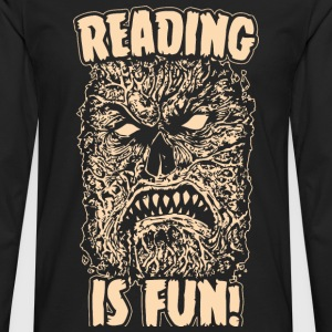 Reading Is Fun Necronomicon - Men's Premium Long Sleeve T-Shirt