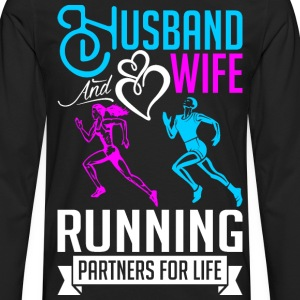 Husband And Wife Running Partners For Life T-Shirts - Men's Premium Long Sleeve T-Shirt