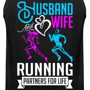 Husband And Wife Running Partners For Life T-Shirts - Men's Premium Tank