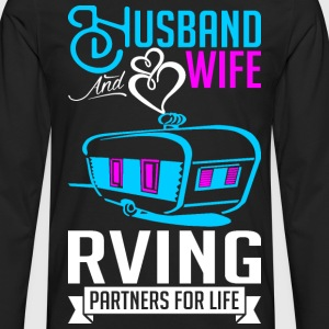 Husband And Wife RVing Partners For Life T-Shirts - Men's Premium Long Sleeve T-Shirt