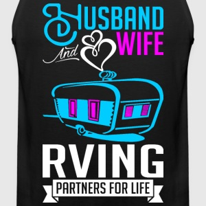 Husband And Wife RVing Partners For Life T-Shirts - Men's Premium Tank