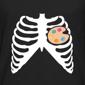 My Heart Beats For Painting - I Love Painting T-Shirts - Men's Premium Long Sleeve T-Shirt
