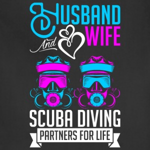 Husband And Wife Scuba Diving Partners For Life T-Shirts - Adjustable Apron