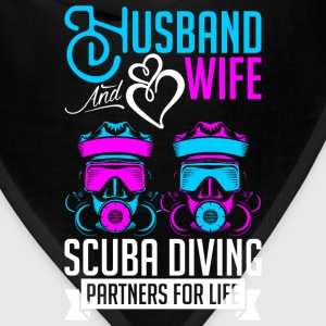 Husband And Wife Scuba Diving Partners For Life T-Shirts - Bandana