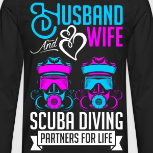 Husband And Wife Scuba Diving Partners For Life T-Shirts - Men's Premium Long Sleeve T-Shirt