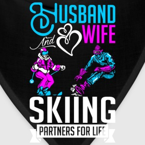 Husband And Wife Skiing Partners For Life T-Shirts - Bandana