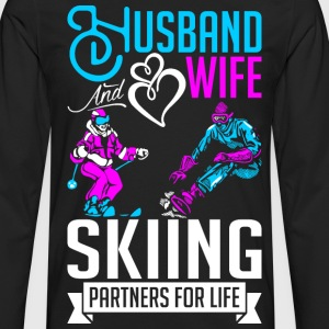 Husband And Wife Skiing Partners For Life T-Shirts - Men's Premium Long Sleeve T-Shirt