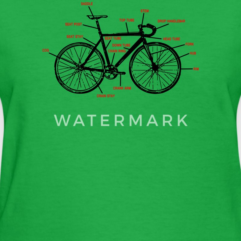 Bike Anatomy - Women's T-Shirt