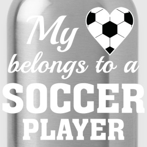 Heart Belongs Soccer - Water Bottle