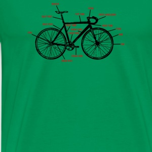 Bike Anatomy - Men's Premium T-Shirt