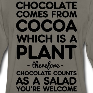 Chocolate Comes from Cocoa which is a plant T-Shirts - Men's Premium Long Sleeve T-Shirt