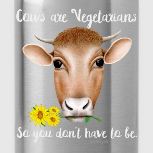 Cows are Vegetarians Design - Water Bottle