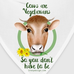Cows are Vegetarians Saying - Bandana