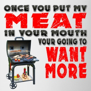 Once you put my Meat in Your Mouth Joke BRS 2 Aprons - Coffee/Tea Mug