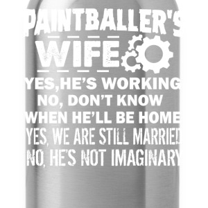Paintballer Wife Shirt - Water Bottle