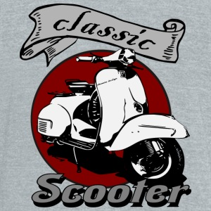 Classic Scooter - Unisex Tri-Blend T-Shirt by American Apparel