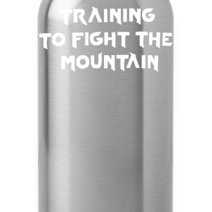 training to fight the mountain - Water Bottle