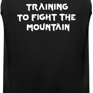 training to fight the mountain - Men's Premium Tank