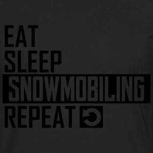 eat sleep snowmobiling T-Shirts - Men's Premium Long Sleeve T-Shirt
