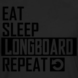 eat sleep longboard T-Shirts - Men's Premium Long Sleeve T-Shirt