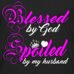 blessed by god spoiled by my husband - Men's Premium Long Sleeve T-Shirt