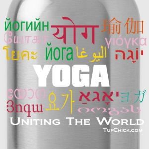 Yoga in different languages Tanks - Water Bottle