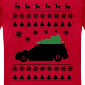 Forester XT Christmas Sweater (Black) - Men's T-Shirt by American Apparel