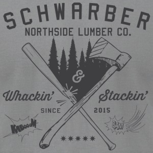Schwarber Northside Lumber Co - Men's T-Shirt by American Apparel