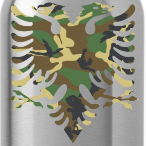Albanian Military Flag - Water Bottle