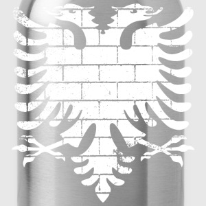 Albanian Flag Wall - Water Bottle