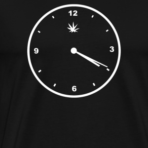 420 Clock Face Stoner Humour Weed Cannabis Pot Fou - Men's Premium T-Shirt