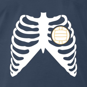 MY HEART BEATS FOR VOLLEYBALL! Tanks - Men's Premium T-Shirt