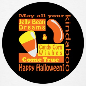 Candy Corn Wishes Buttons - Men's T-Shirt
