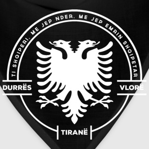 Albanian Cities Badge White - Bandana