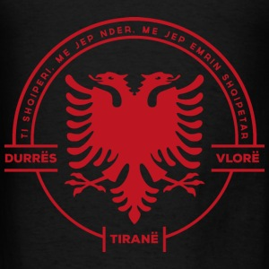 Albanian Cities Badge Red - Men's T-Shirt