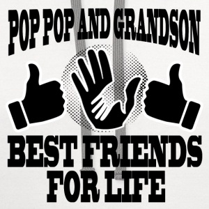 POP POP AND GRANDSON 2.png T-Shirts - Contrast Hoodie