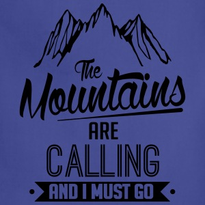 Skiing: the mountains are calling T-Shirts - Adjustable Apron
