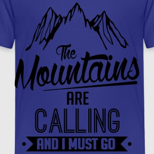 Skiing: the mountains are calling Kids' Shirts - Toddler Premium T-Shirt