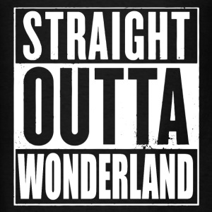 Straight Outta Wonderland Alice Design Hoodies - Men's T-Shirt