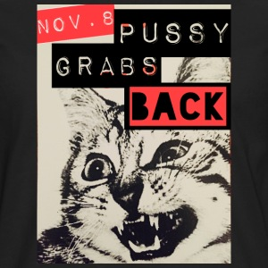 PUSSY GRABS BACK T SHIRT OFFICIAL #PUSSYGRABSBACK - Men's Premium Long Sleeve T-Shirt